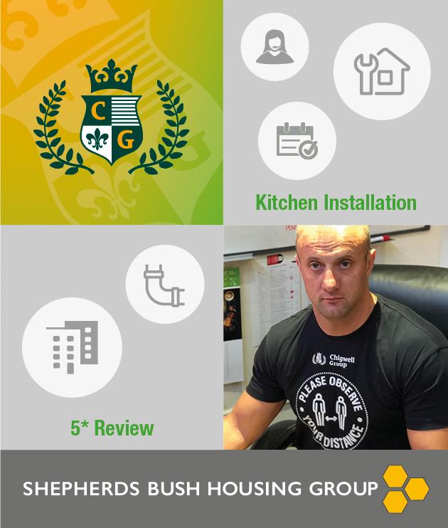 CG kitchen installation SBHA