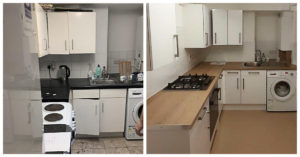 Kitchen replacement before and after